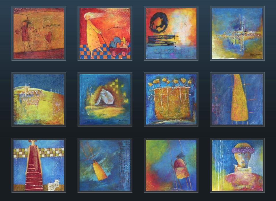 """La peinture """"Encore plus haut"""", de l'artiste peintre Ginette Fournier, fait partie des 13 oeuvres exposées jusqu'au 1er décembre 2017 à l'hôtel de ville de Victoriaville."""