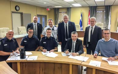 Nouvelle convention collective pour les pompiers de Victoriaville