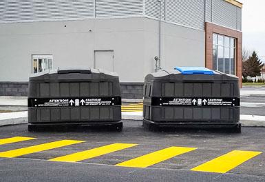 De nouveaux bacs semi-enfouis pour favoriser le compost et la récupération au centre-ville