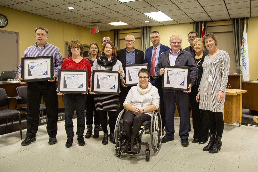 Victoriaville remet un prix d'excellence en accessibilité et 5 mentions spéciales