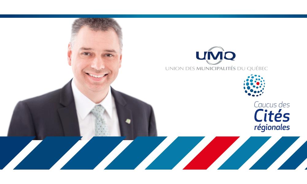 M. André Bellavance a obtenu l'appui de ses collègues et siègera au comité exécutif du Caucus des Cités régionales de l'Union des municipalités du Québec pour le mandat 2018-2019.