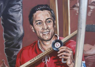 Un hommage à Jean Béliveau, à quelques pas de l'endroit où il a fait ses 1ers coups de patin