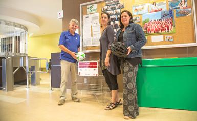 3 paniers de collecte de matériel sportif pour favoriser l'accès aux loisirs à Victoriaville