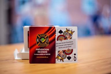 Un jeu de cartes pour prévenir les incendies