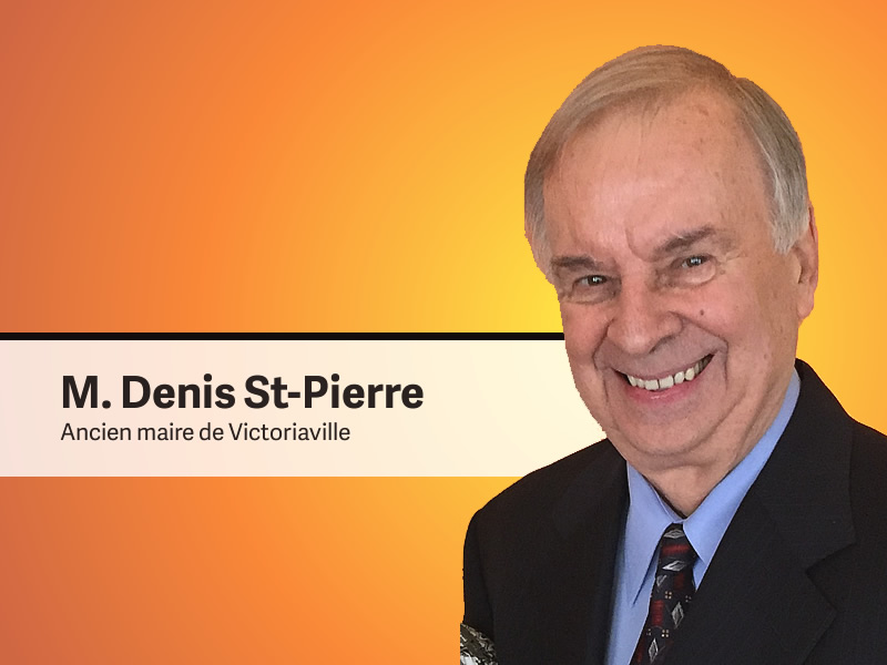Arpenteur et ingénieur, Denis Saint-Pierre a été conseiller municipal de 1967 à 1970, avant d'être élu maire de Victoriaville à l'âge de 34 ans, fonction qu'il occupera pendant 12 années, de 1970 à 1974 et de 1982 à 1990.