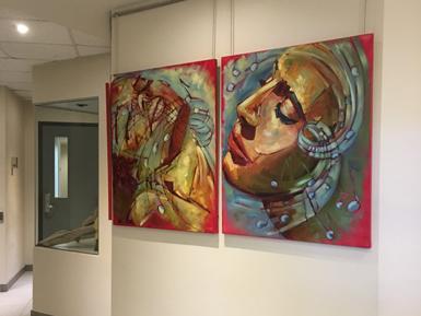 L'artiste Caroline Dion expose à l'hôtel de ville