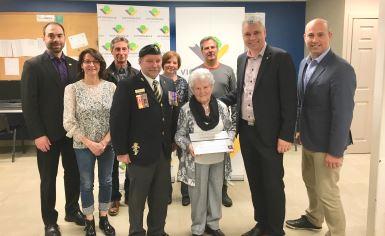 Victoriaville inaugure le passage pour piétons en l'honneur de Maurice Barbin