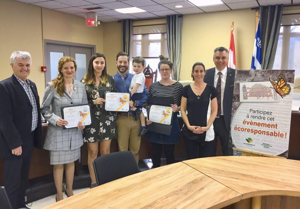 Victoriaville remet sa certification Monarque à  10 événements réalisés sur son territoire en 2018
