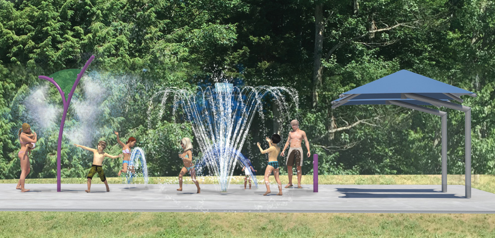 De nouveaux jeux d'eau à venir au parc de l'Amitié.