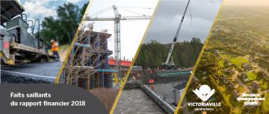 Rapport financier de l'année 2018: 1,113,660$ en surplus réalisés en 2018 à Victoriaville