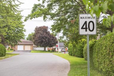 Un deuxième quartier de Victoriaville passe à 40 km/h