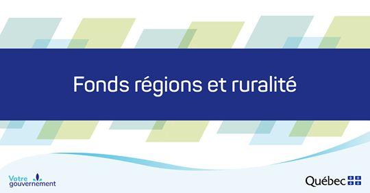 Trois projets municipaux de la MRC d'Arthabaska  soutenus par le Fonds Régions et Ruralité