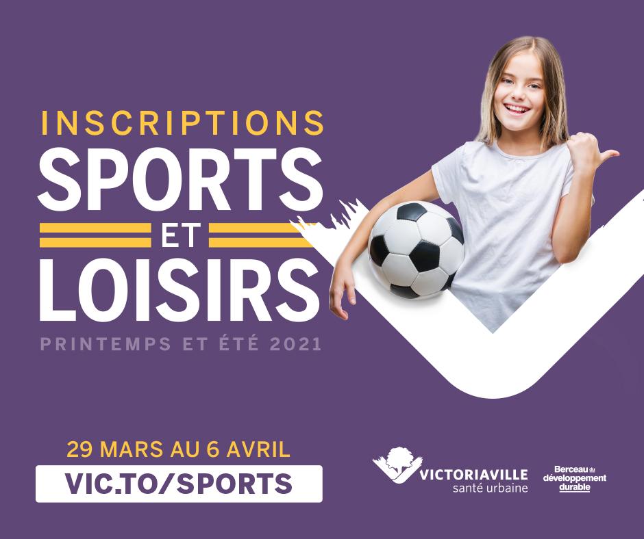 Période d'inscription aux sports et loisirs  printemps et été 2021
