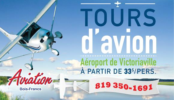Tours d'avion Victoriaville